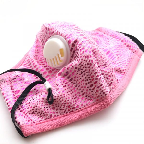 """wiederverwendbare Fashionmaske """"rosa-glitzerstyle"""""""
