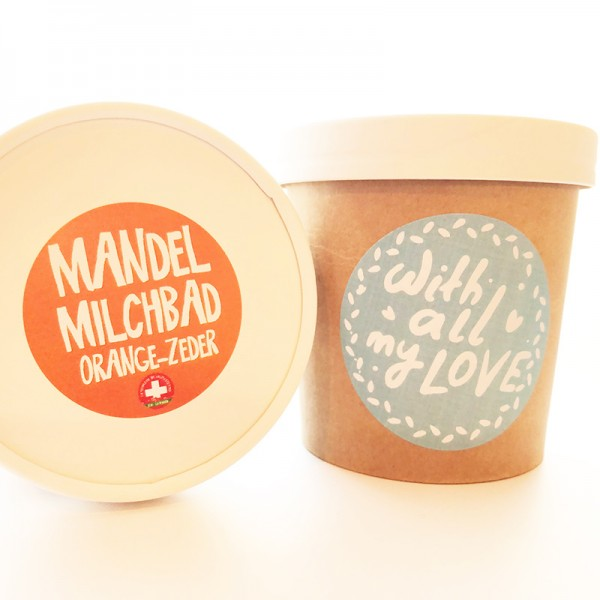 Mandelmilchbad Orange No5 with all my