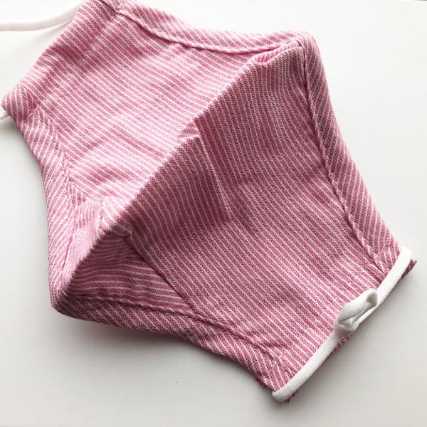 "Kindermaske ""Streifen rosa"""